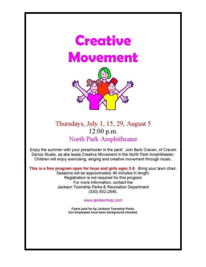 creative movements flyer 2021